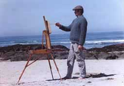 Olaf at his easel